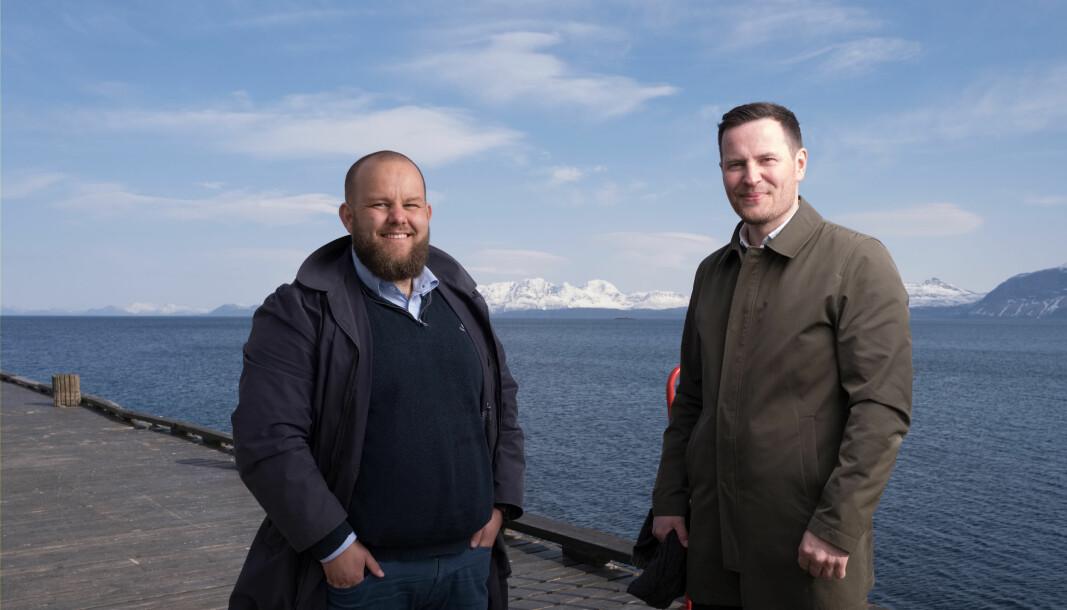 STÅR BAK: Gard L. Michalsen (t.v.) og Kjartan Ridderseth har etablert Heia Nord-Norge.