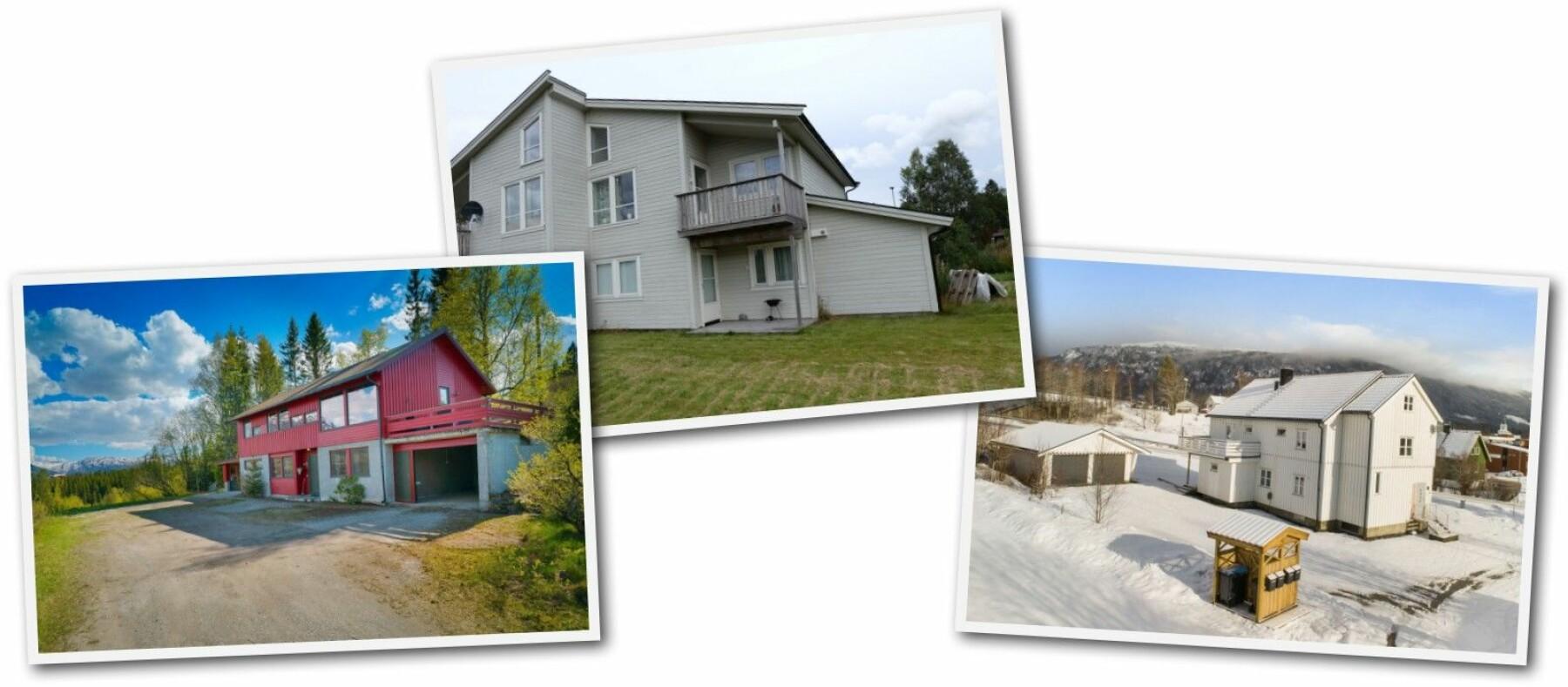 For fire millioner kan du få en liten leilighet i byen – eller 263 kvadratmeter i Hemnes kommune. Her er noen av objektene som er å finne på Finn.no for tiden.