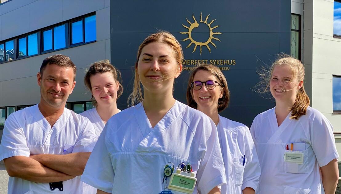 Noen av de 500 ansatte ved Hammerfest sykehus.