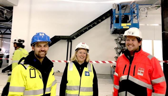 Daglig leder Martin Mathisen i Harstadbygg Entreprenør, HR-sjef Anne Reinsnes i Kronsteingruppen – og daglig leder Andreas Vollan Einejord i Sortland Entreprenør.
